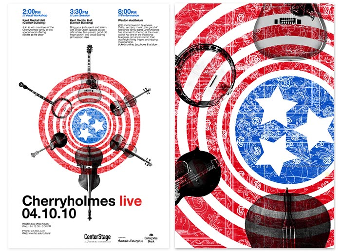 Cherryholmes live poster