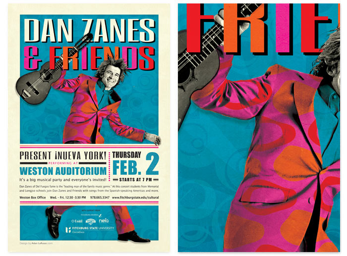 Dan Zanes and Friends gig concert poster